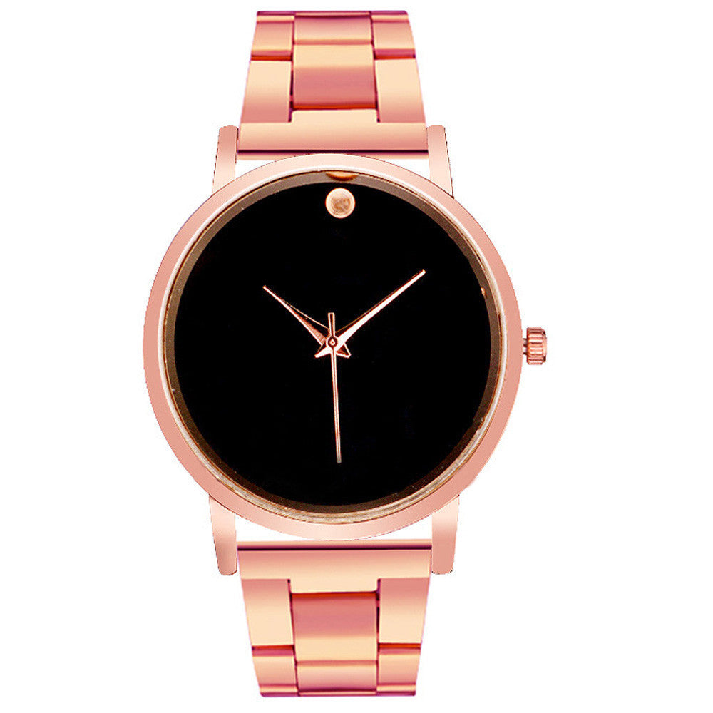 Luxury Fashion Ladies Watches Full Stainless Steel Rose Gold Simple Desgin