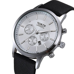 Men Quartz Watch with Leather Strap NORTH 6009
