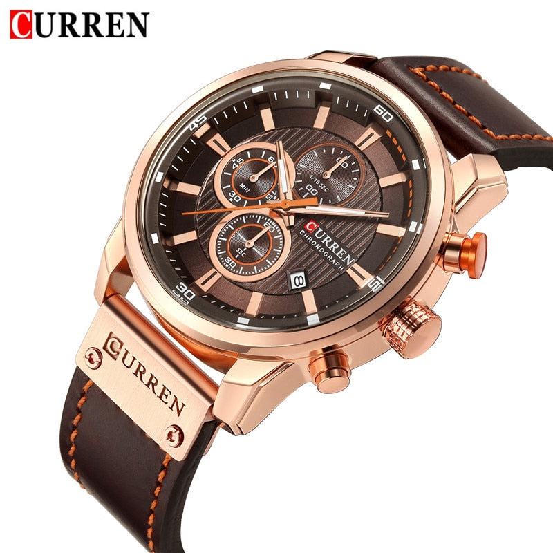 CURREN 8291 Men's Waterproof Chronograph Sport Military Male Watch
