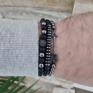 3Pc Charms Bracelets Set for Men & Women