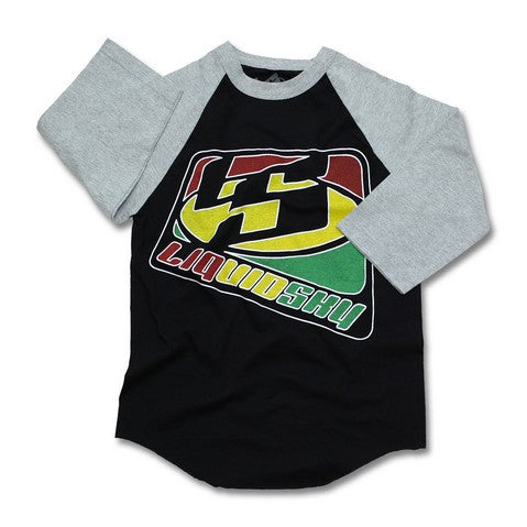 Rasta Ragland Black and Grey Sleeves