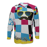 Mustache Front Long Sleeve Jersey