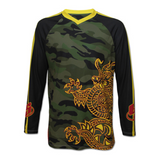 Camo Dragon Front Long Sleeve Jersey