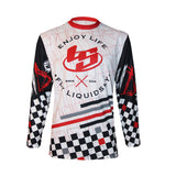 Chekered Long Sleeve Jersey