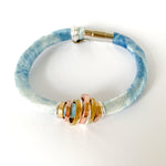 {3 Left} SIMONE indigo dyed hemp silk bracelet to benefit Every Mother Counts