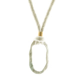 Razimus Jewelry organic necklace using organic linen adjustable length necklace