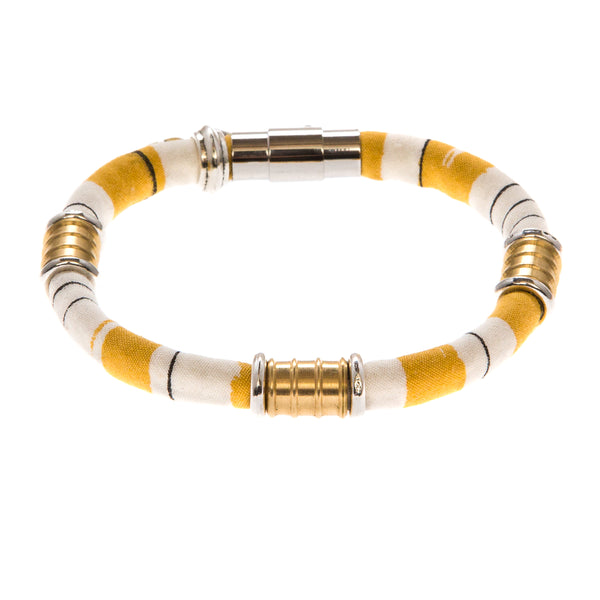 Limited Edition Bracelet: KATE in vintage mustard stripe