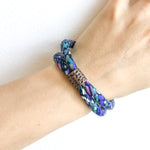 {3 left} 8 OF A KIND: 2-band upcycled Betsy Olmsted purple cotton