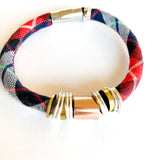 MARIAN ROSE organic plaid bracelet