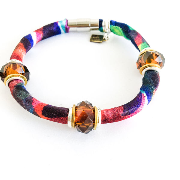 FLASH SALE: faceted glass bracelet