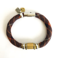 LAST ONES: vintage brown plaid bracelet