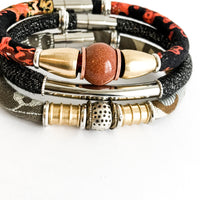 {1 LEFT} 10 OF A KIND: upcycled Betsy Olmsted & goldstone bracelet