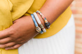 KIMIE upcycled 'sunshine' cotton bracelet to benefit Every Mother Counts
