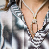 organic fabric eco-friendly jewelry by Razimus Jewelry organic linen necklace adjustable length necklace