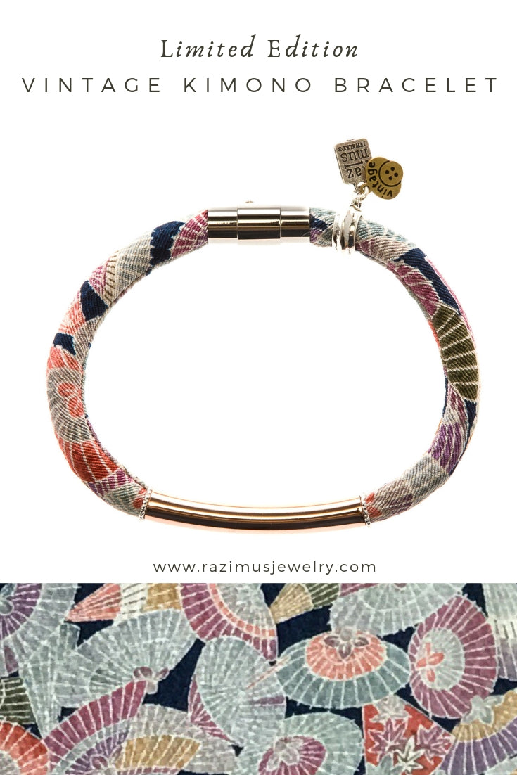 {LIMITED RELEASE: only 5 available} CARLA bracelet in vintage kimono silk - excluded from sale