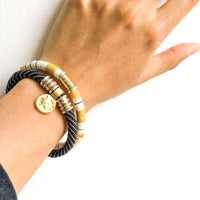 AMY ROSE bracelet in vintage black stripe