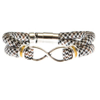 {LAST ONE} Size SMALL:  JOHANNA bracelet in brown & black houndstooth