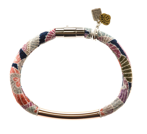 {LIMITED RELEASE: only 3 remain} CARLA bracelet in vintage kimono silk