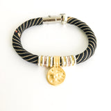 recycled vintage clothing jewelry by Razimus Jewelry, an eco-friendly jewelry brand