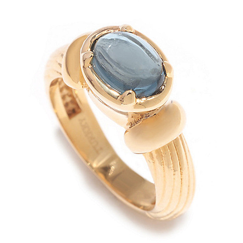 Textured Band Ring with London Blue Topaz