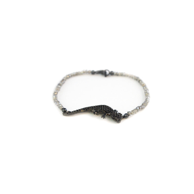 Lizard Gray Spinel Bracelet