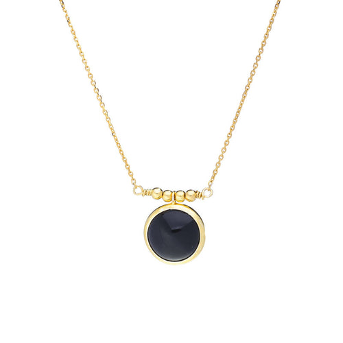 Black Onyx Long Necklace