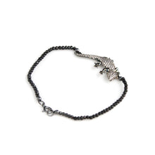 Lizard Black Spinel Bracelet