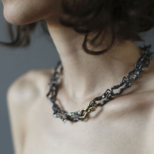 Human Chain Necklace - Bronze