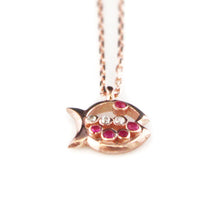 Fish Necklace with Swarovski Stones