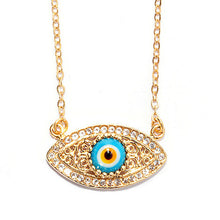 Topaz Evil Eye Necklace