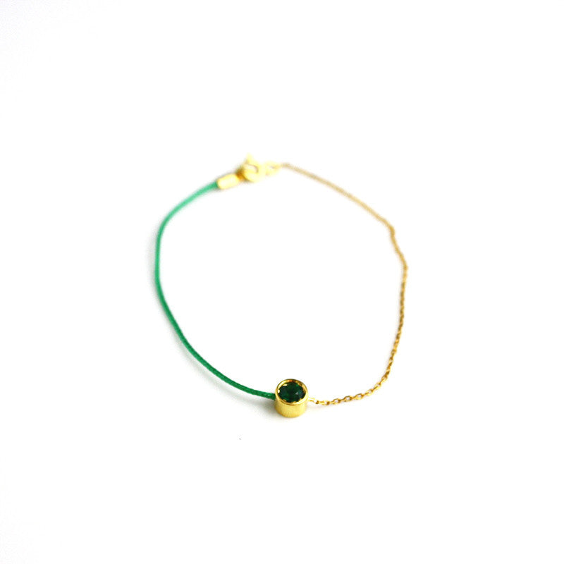 Green Tourmaline Signature Bracelet