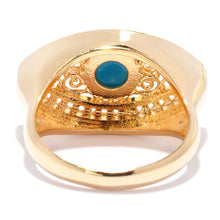 Topaz Evil Eye Ring