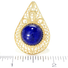 Lapis Pear Shaped Ring