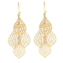 Leaf Tiered Earrings
