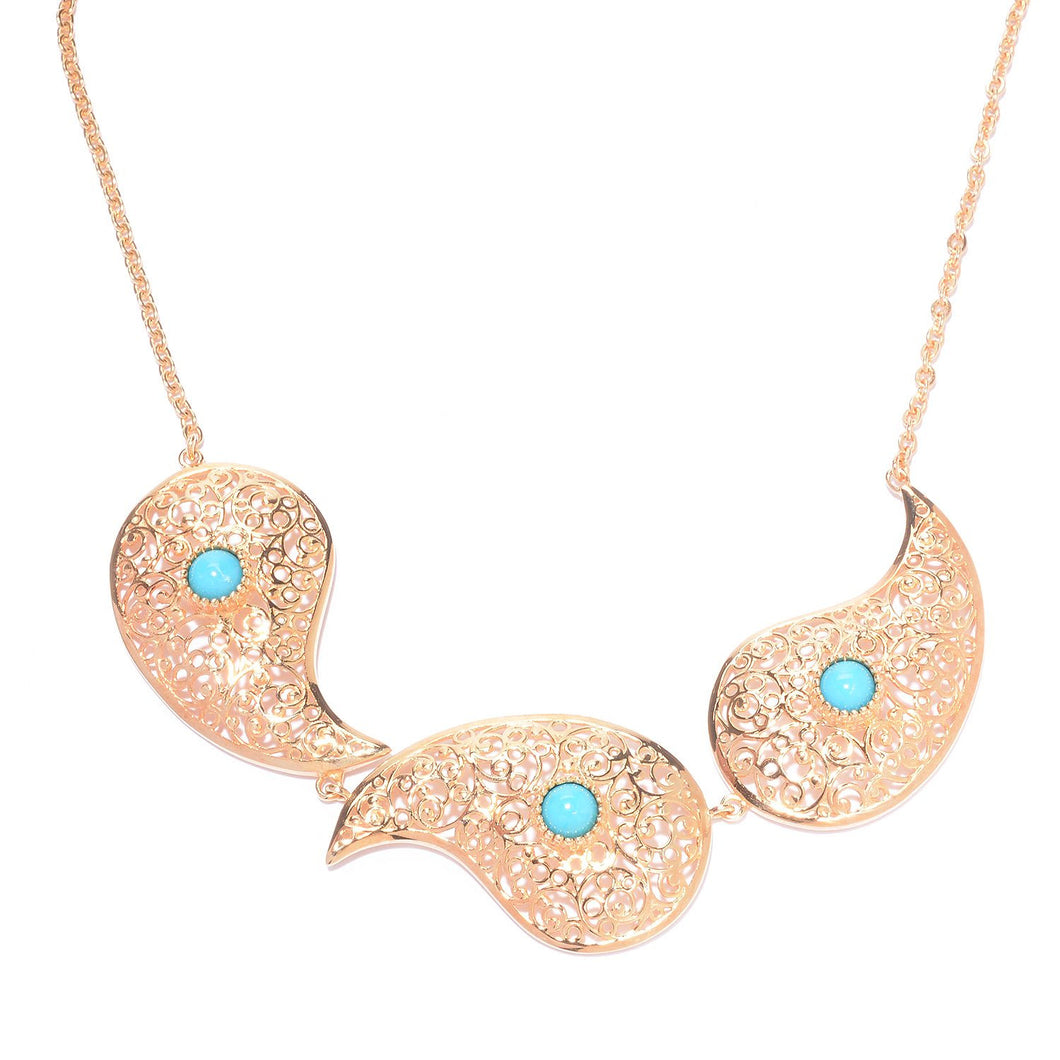 Turquoise Paisley Necklace