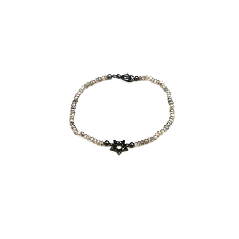 Black Star Gray Spinel Bracelet
