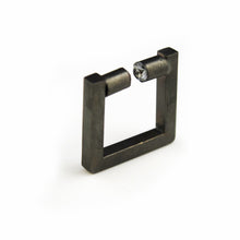 Square Ring with Zircon Ends