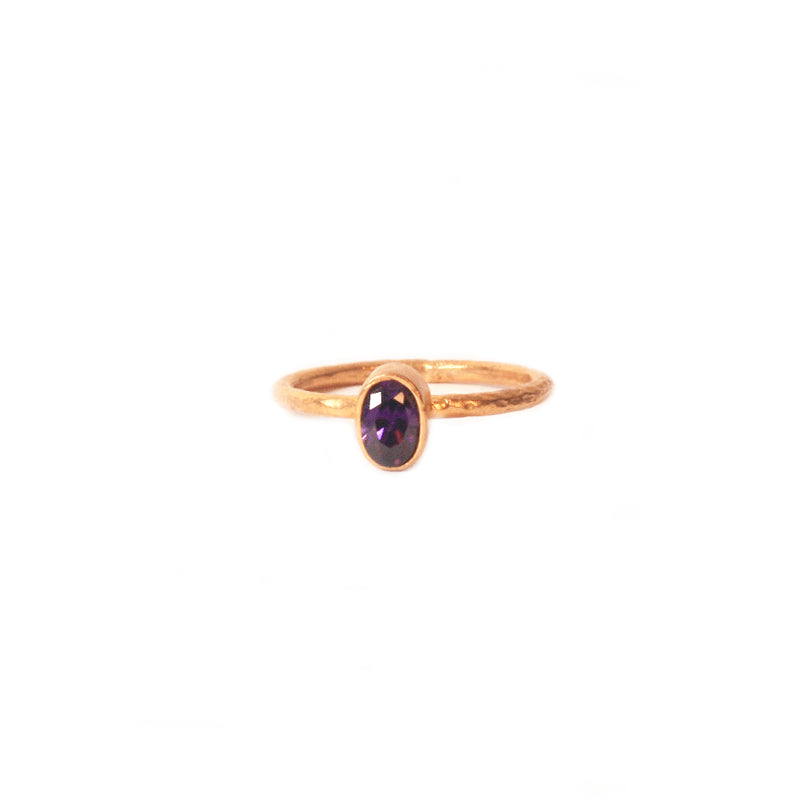 Purple Zircon Stackable Ring