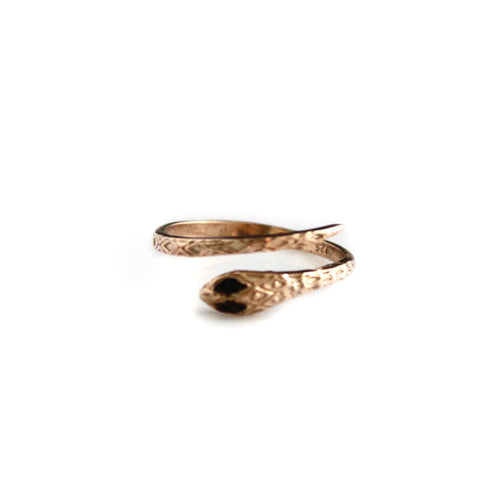 Black Eyed Snake Ring