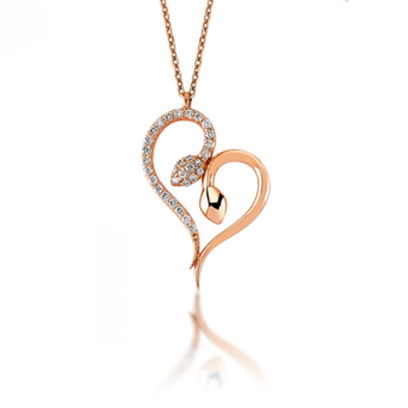 Snakes In Love Necklace