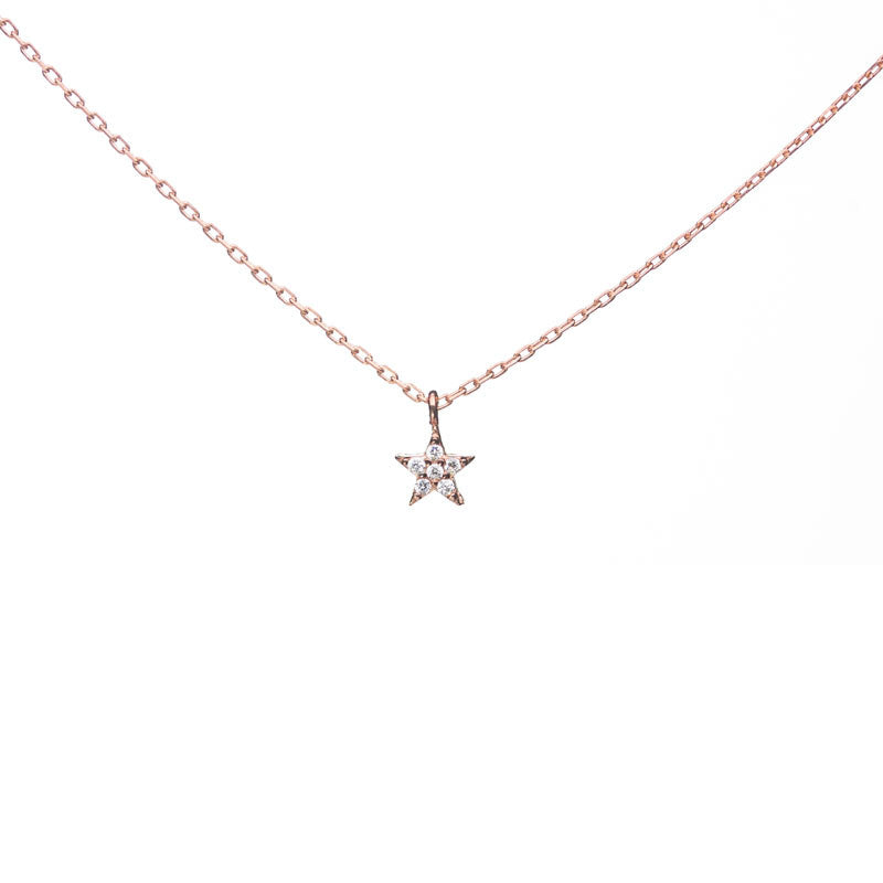 Star Necklace with Swarovski Stones