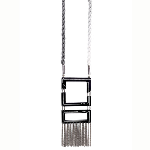 Stok Necklace - Gray / Silver