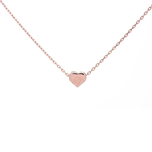 Filled Tiny Heart Necklace