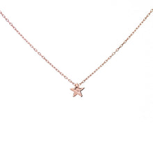 Pink Gold Star Necklace