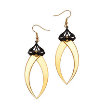 Blind Bite Gold Drop Earrings