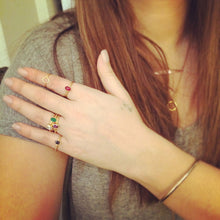 Yellow Zircon Stackable Ring