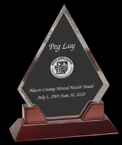Diamond Acrylic Desk Award Plaque