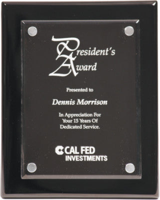 Acrylic Award Piano Finish Black Plaque