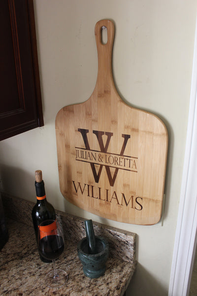Custom Engraved Bamboo Pizza Board