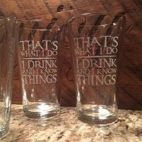 Custom Engraved Pint Glasses - Your design or ours